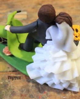 cake topper vesta e girasoli