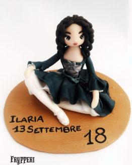 cake topper statuina personalizzato ballerina