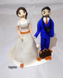 cake topper viaggiatori