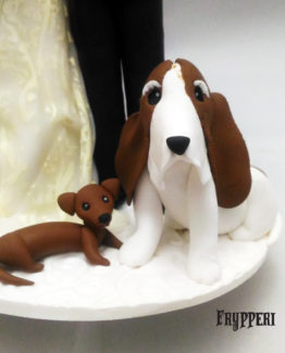 Cake Topper basset hound e bassotto