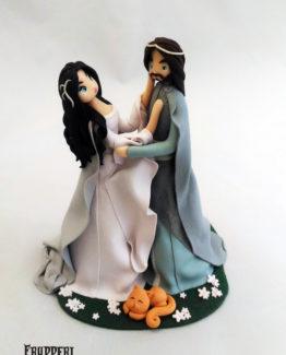 cake topper arwen e aragorn il signore degli anelli lord of the rings