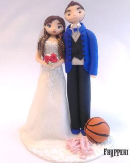 Cake Topper Coppia Basket Ballerina