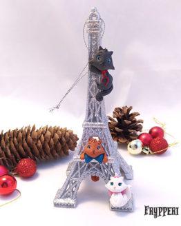 Decorazione Natale Torre Eiffel Aristogatti