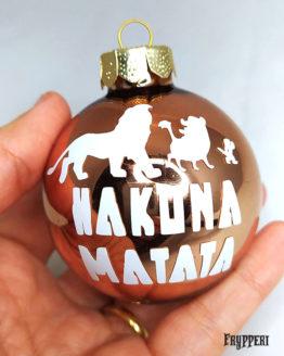 Pallina Natale Re Leone Hakuna Matata